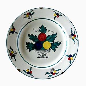 Italian Ceramic Plate by Andrea Galvani for Galvani, 1920s