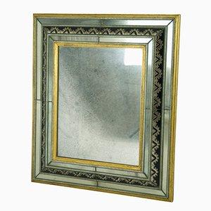 Italian Wood and Murano Glass Wall Mirror, 1930s