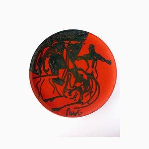 Italian Ceramic Plate by Luigi Garoli for Ceramiche Arcore, 1970s
