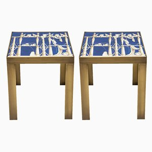 Ceramic Side Tables by Gio Ponti, 1960s, Set of 2