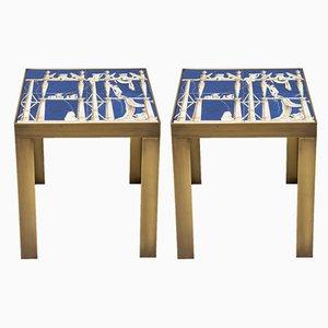 Tavolini in ceramica di Gio Ponti, anni '60, set di 2