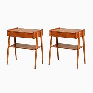 Scandinavian Tables from AB Carlström, 1950s, Set of 2