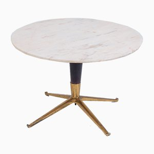 Marble, Wood & Brass Coffee Table by Melchiorre Bega, 1950s