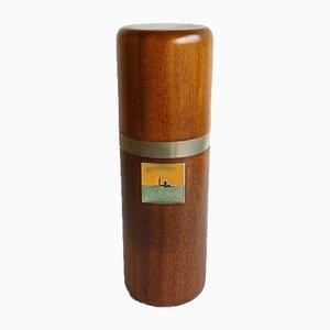 Wood, Enamel & Metal Bottle Holder by Virgilio Guidi for Spirale Arte, 1970s