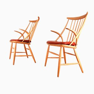 Armchairs by Illum Wikkelso for Niels Eilersen, Set of 2