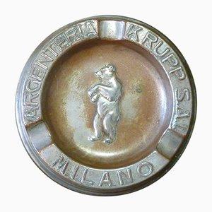 Posacenere in metallo di Arthur Krupp, inizio XX secolo