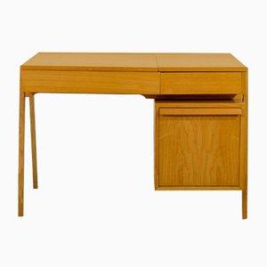 Schweizer Holz Schreibtisch von Victoria Furniture Baar, 1960er