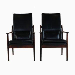 Palisander Armlehnstühle von Arne Vodder für Sibast, 1960er, 2er Set