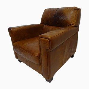 Tan Vintage Distressed Armchair, 1980s