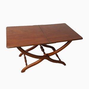 Mid-Century English Walnut Folding Dining Table