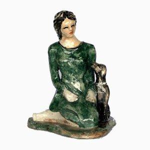 Ceramic Pottery Rossicone Figure Sculpture by Domenico Purificato