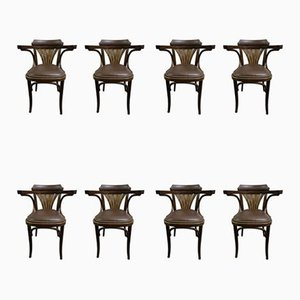 Mid-Century Dining Chairs by Michael Thonet for TON, Set of 8