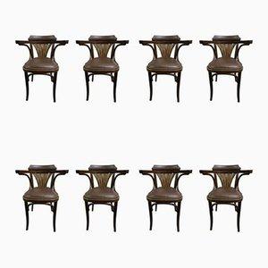 Mid-Century Esszimmerstühle von Michael Thonet für TON, 8er Set
