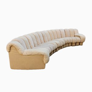 Vintage Beige Suede & Leather DS - 600 Sofa by Eleonore Peduzzi Riva for de Sede, 1980s