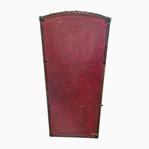Antique Red Travel Trunk