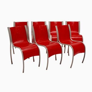 Italian Lounge Chairs by Ron Arad for Kartell, 1990s, Set of 7