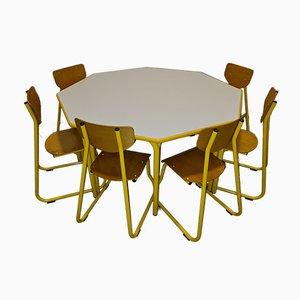 Mid-Century Kindertisch & Stühle von Lista, 7er Set