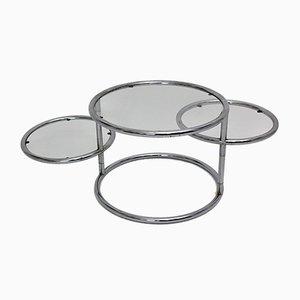Chrome Swivel Coffee Table, 1970s