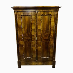 Biedermeier Walnut Wardrobe