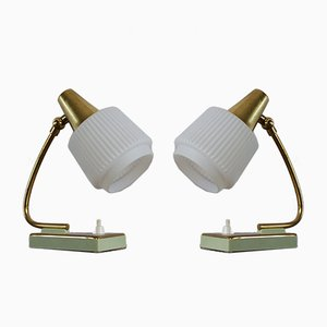Mid-Century Mint Table Lamps, Set of 2