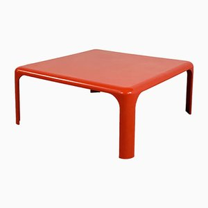 Red Demetrio Coffee Table by Vico Magistretti for Artemide, 1960s
