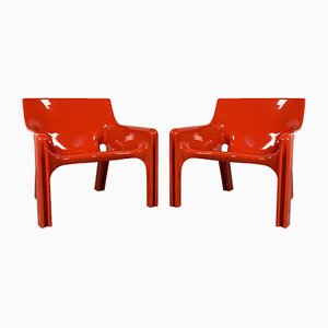 Lounge Chairs by Vico Magistretti for Artemide, 1970s, Set of 2