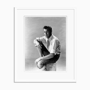 Dirk Bogarde Silver Gelatin Resin Print Framed in White by Baron