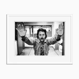 Dustin Hoffman On Set Archival Pigment Print Framed in White by Everett Collection