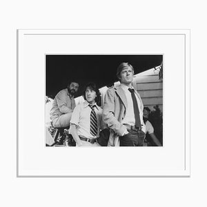 Pakula, Hoffman, Redford Archival Pigment Print Framed in White by Everett Collection
