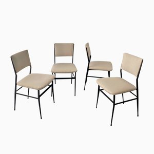 Iron Dining Chairs, 1950s, Set of 4