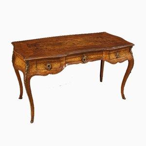 Französischer Schreibtisch aus Holz mit Intarsien, 1950er