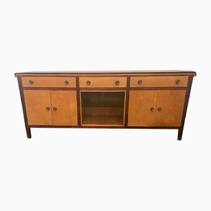 Art Deco Maple & Elm Sideboard, 1940s