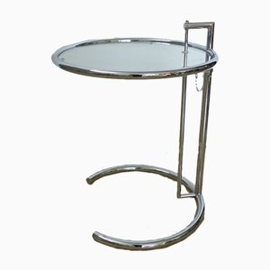 Adjustable Glass Side Table by Eileen Gray for Classicon, 1980s