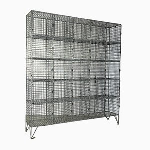 Industrial Wire Mesh Wall Unit, 1960s