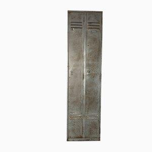 Industrial Stripped Steel Locker Cabinet, 1960s