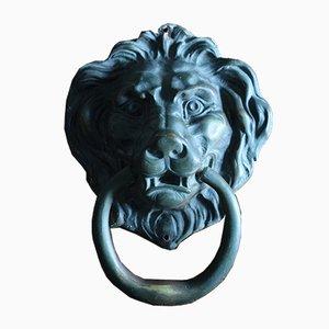 Heurtoir de Porte Lion du 19ème Siècle en Bronze