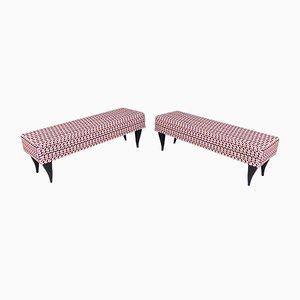 Italian Patterned Benches for Dedar, 1950s, Set of 2