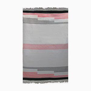 Geometric Wool Rug by Antonín Kybal, 1950s