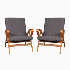 Czech Lounge Chairs from Tatra Nabytok, 1960s, Set of 2