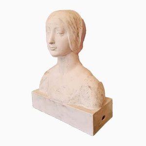 French National Museums Plaster Female Bust