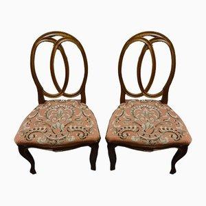 Antique Art Nouveau Side Chairs, Set of 2
