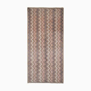 Vintage Woolen Hand Knotted Short Hallway Carpet