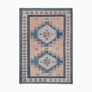 Großer Weich Karrussischer Vintage Teppich