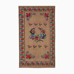 Vintage Aubusson Turkish Rug with Floral Pattern