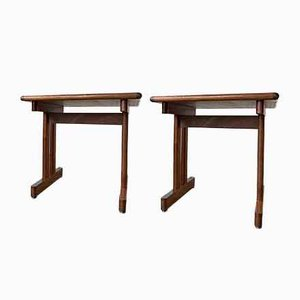 Teak Nightstands by Jørgen Posborg for Hundevad & Co., Set of 2