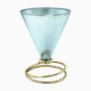 Lampada da tavolo piccola in alluminio di Ettore Sottsass per Rinnovel, anni '50