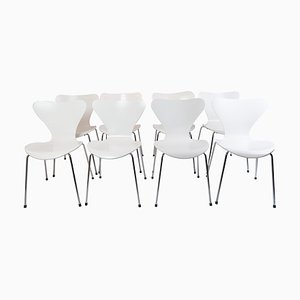 Model 3107 Chairs by Arne Jacobsen for Fritz Hansen, Set of 8