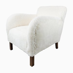 Easy Chair in Sheep Wool from Fritz Hansen, 1930s