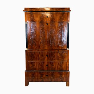 Late Empire Cabinet with Hand-Polished Mahogany & Cherry Interior, 1840s
