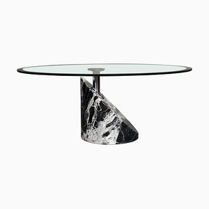 Coffee Table in Marble and Glass by Giorgio and Maurizio Cattelan, 1980s
